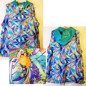 Vintage 90s, Casual Isle, Athletic, Hoodie Vest
